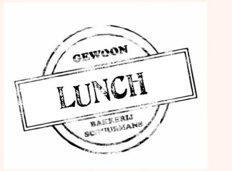 Gewoon Lunch...van Bakkerij Schuurmans